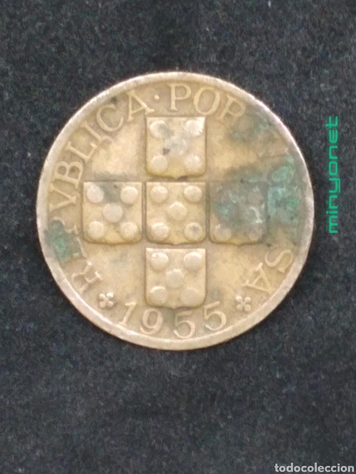 Monedas antiguas de Europa: Moneda de 20 centavos de Portugal de 1955 - Foto 2 - 194235253