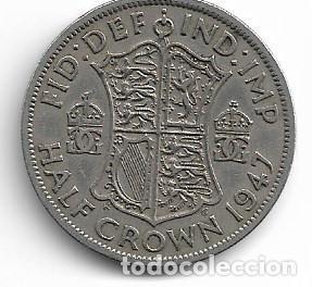 INGLATERRA,1/2 CORONA 1947. (Numismática - Extranjeras - Europa)