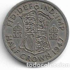 Monedas antiguas de Europa: INGLATERRA,1/2 CORONA 1947.. Lote 194243488