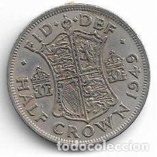 Monedas antiguas de Europa: INGLATERRA,1/2 CORONA 1949.. Lote 194243603