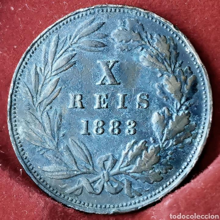 Monedas antiguas de Europa: Portugal 10 reis 1883 - Foto 2 - 194250127