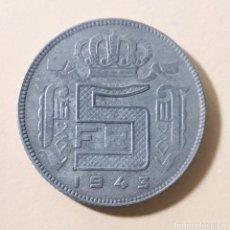 Monedas antiguas de Europa: 5 FRANCOS OCUPACIÓN NAZI BÉLGICA 1943 II GUERRA MUNDIAL. Lote 194252722