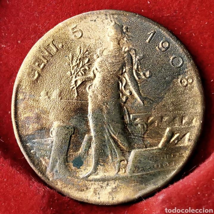 RARA. ITALIA 5 CENTESIMI 1908 (Numismática - Extranjeras - Europa)