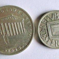 Monedas antiguas de Europa: 2 DE AUSTRIA -1SCH Y 1/2 SCH- 1925 - PLATA. Lote 194261921