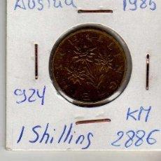 Monedas antiguas de Europa: AUSTRIA 1 SCHILLING 1985. Lote 194317953