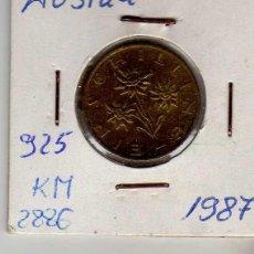 Monedas antiguas de Europa: AUSTRIA 1 SCHILLING 1987. Lote 194318012