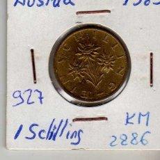 Monedas antiguas de Europa: AUSTRIA 1 SCHILLING 1989. Lote 194318146