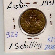 Monedas antiguas de Europa: AUSTRIA 1 SCHILLING 1991. Lote 194318218