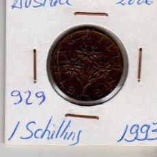 Monedas antiguas de Europa: AUSTRIA 1 SCHILLING 1993. Lote 194318257