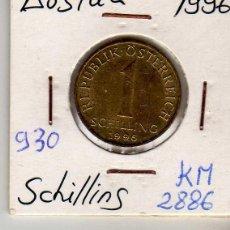 Monedas antiguas de Europa: AUSTRIA 1 SCHILLING 1996. Lote 194318323