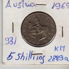Monedas antiguas de Europa: AUSTRIA 5 SCHILLING 1969. Lote 194318427