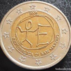 Monedas antiguas de Europa: REPUBLICA DE SAN MARINO MONEDA DE 2 EUROS PRUEBA 2009 EMU. Lote 211838348