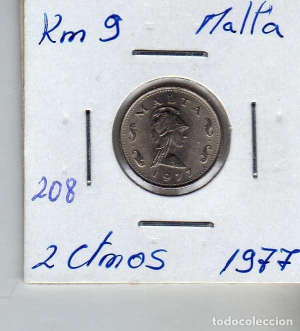 MALTA 2 CENTIMO 1977 (Numismática - Extranjeras - Europa)