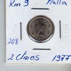 Monedas antiguas de Europa: MALTA 2 CENTIMO 1977. Lote 194343117