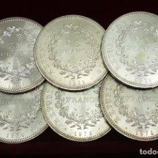 Monedas antiguas de Europa: FRANCIA FRANCE COLECCIÓN 6 MONEDAS 50 FRANCOS 1974 75 76 77 78 79 KM 941 PLATA SC- AUNC. Lote 194488181