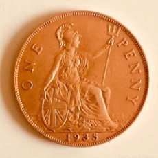 Monedas antiguas de Europa: BONITO PENIQUE BRONCE 1935 JORGE V INGLATERRA EXCELENTE CONSERVACIÓN. Lote 194502397