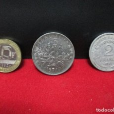 Monedas antiguas de Europa: 3 MONEDAS REPUBLICA FRANCESA. Lote 194512942