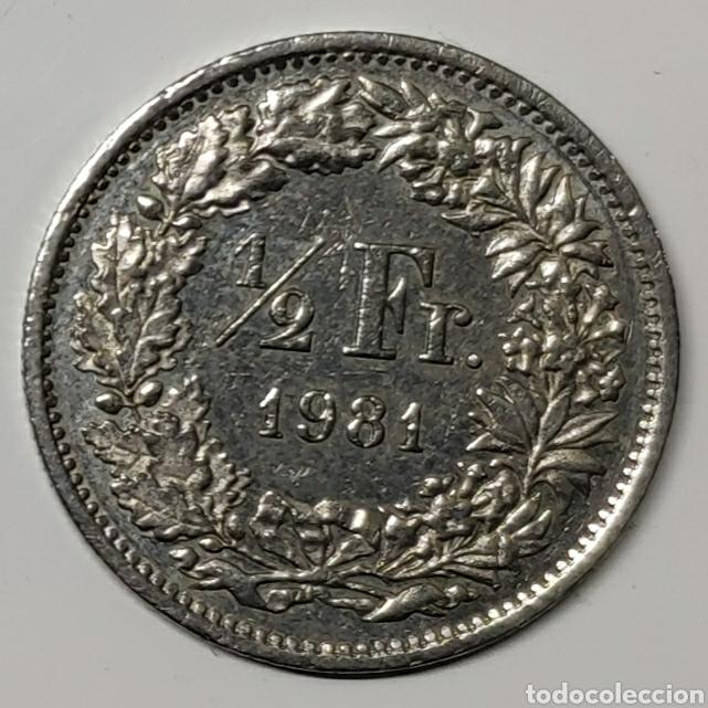 MONEDA SUIZA, 1/2 FRANCO 1981 (Numismática - Extranjeras - Europa)
