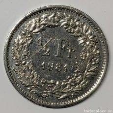 Monedas antiguas de Europa: MONEDA SUIZA, 1/2 FRANCO 1981. Lote 194532616