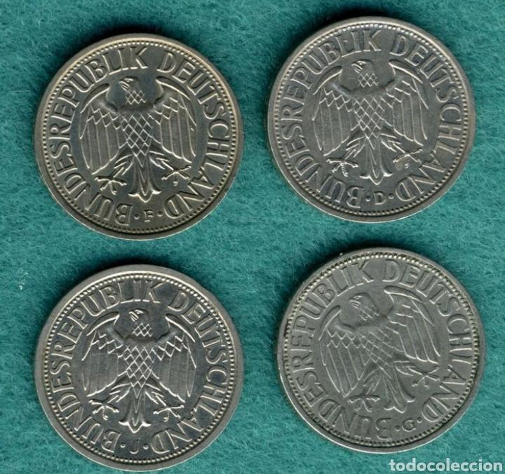 Monedas antiguas de Europa: Lote Monedas 2 Marcos 1951 - Foto 2 - 194535140