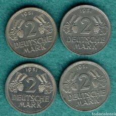 Monedas antiguas de Europa: LOTE MONEDAS 2 MARCOS 1951. Lote 194535140