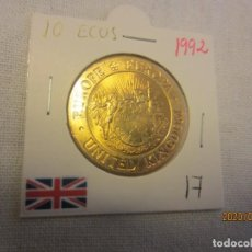 Monedas antiguas de Europa: REINO UNIDO 10 ECUS 1992 KM17 SC. Lote 194581002