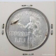 Monedas antiguas de Europa: 100,000 LEI ROMANIA MIHAI I 1946 KM 71. Lote 194583430
