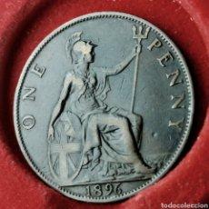 Monedas antiguas de Europa: GRAN BRETAÑA 1 PENNY 1896. Lote 194586946