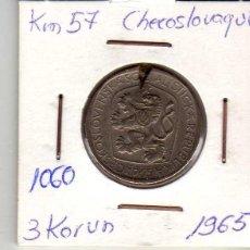 Monedas antiguas de Europa: CHECOSLOVAQUIA 3 CORONAS 1965. Lote 194613433