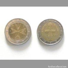 Monedas antiguas de Europa: 5 € CADA MONEDA - DOS EUROS DE MALTA / CHIPRE 2 € CRUZ 2008 ÍDOLO 2008 - NUMISMÁTICA -OTRAS EN VENTA. Lote 194622693