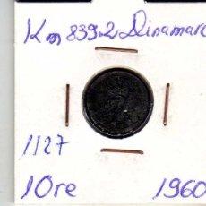 Monedas antiguas de Europa: DINAMARCA 1 ORE 1960. Lote 194632967