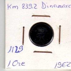 Monedas antiguas de Europa: DINAMARCA 1 ORE 1962. Lote 194632996
