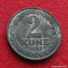 Monedas antiguas de Europa: CROÁCIA 2 KUNA 1941 #2. Lote 194640257