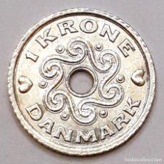 Monedas antiguas de Europa: MONEDA DE 1 CORONA DINAMARCA 1998. Lote 194640810