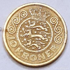 Monedas antiguas de Europa: MONEDA DE 10 CORONAS DINAMARCA 1995. Lote 194640971
