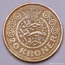 Monedas antiguas de Europa: MONEDA DE 20 CORONAS DINAMARCA 1990. Lote 194641111