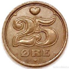 Monedas antiguas de Europa: MONEDA DE 25 ORE DINAMARCA 1993. Lote 194641160