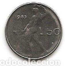 Monedas antiguas de Europa: 50 LIRAS ITALIA 1985 - 500 LIRAS ITALIA 1983. Lote 194641978