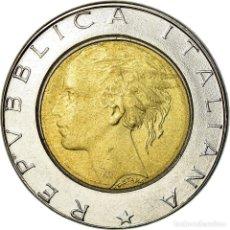 Monedas antiguas de Europa: MONEDA, ITALIA, 500 LIRE, 1989, ROME, EBC, BIMETÁLICO, KM:111. Lote 194686631