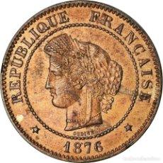 Monedas antiguas de Europa: MONEDA, FRANCIA, CÉRÈS, 5 CENTIMES, 1876, PARIS, MBC, BRONCE, KM:821.1. Lote 194687415