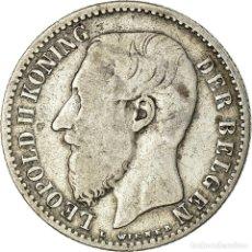 Monedas antiguas de Europa: MONEDA, BÉLGICA, LEOPOLD II, FRANC, 1887, BC+, PLATA, KM:29.1. Lote 194688498