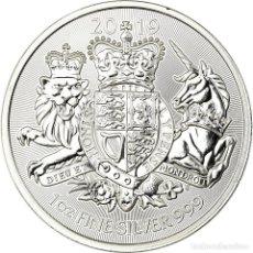 Monedas antiguas de Europa: MONEDA, GRAN BRETAÑA, ROYAL ARMS, 2 POUNDS, 2019, PROOF, FDC, PLATA, KM:NEW. Lote 194727233