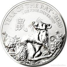 Monedas antiguas de Europa: MONEDA, GRAN BRETAÑA, ANNÉE DU RAT, 2 POUNDS, 2020, PROOF, FDC, PLATA, KM:NEW. Lote 194729996