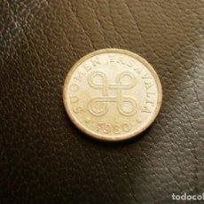 Monedas antiguas de Europa: FINLANDIA 5 PENNIA 1980. Lote 194735410