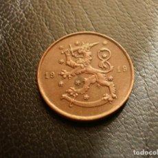 Monedas antiguas de Europa: FINLANDIA 10 PENNIA 1919. Lote 194735502