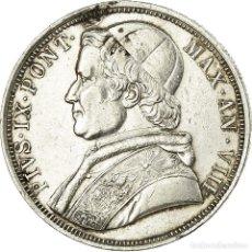 Monedas antiguas de Europa: MONEDA, ESTADOS ITALIANOS, PAPAL STATES, PIUS IX, SCUDO, 1853, ROMA, MBC, PLATA. Lote 194740496