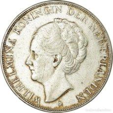 Monedas antiguas de Europa: MONEDA, PAÍSES BAJOS, WILHELMINA I, 2-1/2 GULDEN, 1930, MBC, PLATA, KM:165. Lote 194740740