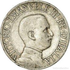 Monedas antiguas de Europa: MONEDA, ITALIA, VITTORIO EMANUELE III, LIRA, 1912, ROME, BC+, PLATA, KM:45. Lote 194740758