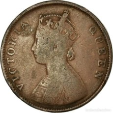 Monedas antiguas de Europa: MONEDA, INDIA BRITÁNICA, VICTORIA, 1/2 ANNA, 1862, BC+, COBRE, KM:468. Lote 194740970