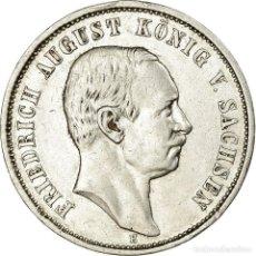 Monedas antiguas de Europa: MONEDA, ESTADOS ALEMANES, SAXONY-ALBERTINE, FRIEDRICH AUGUST III, 3 MARK, 1910. Lote 194740978